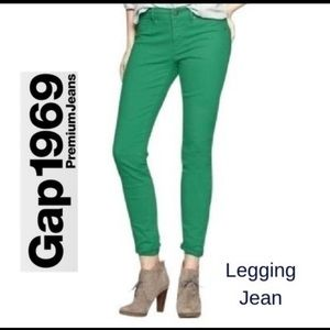 Gap Green Ankle Legging Skinny Jeans Sz 10/30